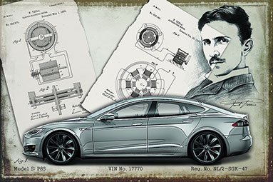 Tesla model S facelift design drawing 2